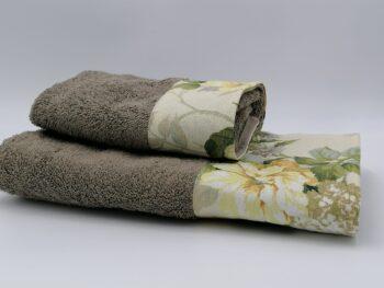 Set di asciugamani viso + ospite color neutro