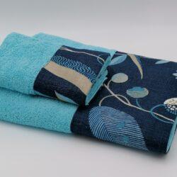 Set di asciugamani viso+ospite spugna