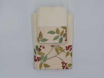 Asciugamano con bordo natalizio regalo made in italy