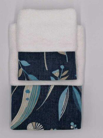 Viso + ospite asciugamano bordato
