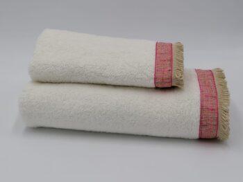 Coppia di asciugamani spugna assorbente