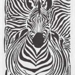 Strofinaccio ekelund con zebra