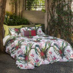 Hibiscus Fazzini lenzuolo due piazze con lenzuolo da sotto con angoli